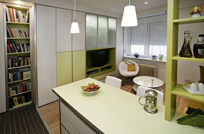 Living Room & Kitchen #design