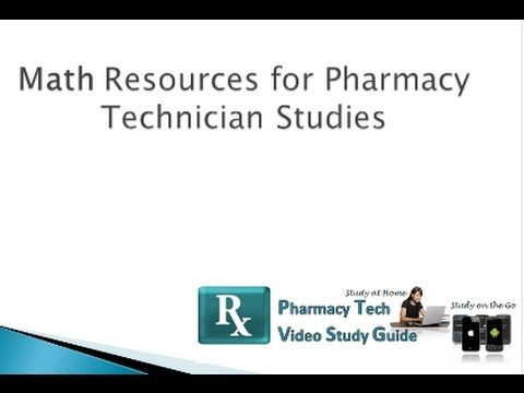 Pharmacy Technician subjects mathematics
