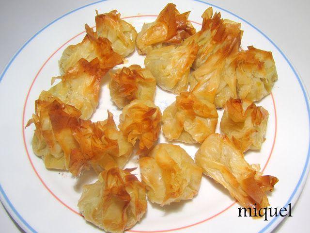 Les receptes del Miquel: Recetas de pasta filo, 2 ideas