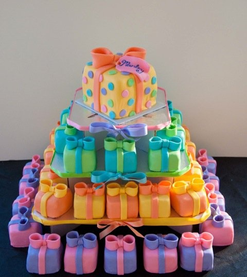 162 best gift box cakes and images on mini gift boxes cake tower a lot of work negle Images