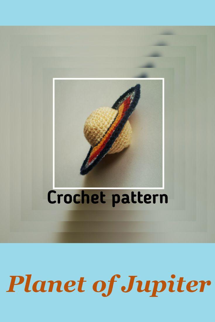 Planet Jupiter pattern PDF Crochet stars  planet Stuffed toy