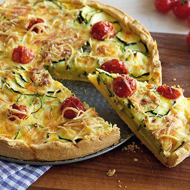 Zucchini-Tomaten-Quiche Rezept | Küchengötter