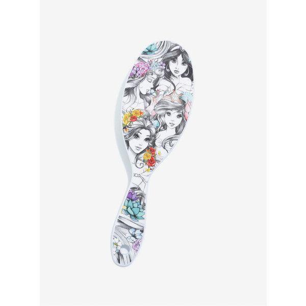 Disney Princess Wet Hair Paddle Brush ($5.99) ❤ liked on Polyvore featuring beauty products, haircare, hair styling tools, brushes & combs, hair brush comb, paddle brush and hair brush