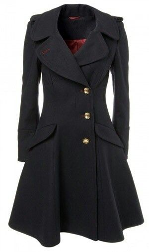 I'm in love with this coat! Or at least, the cut of it. I don't have a black or brown coat yet.