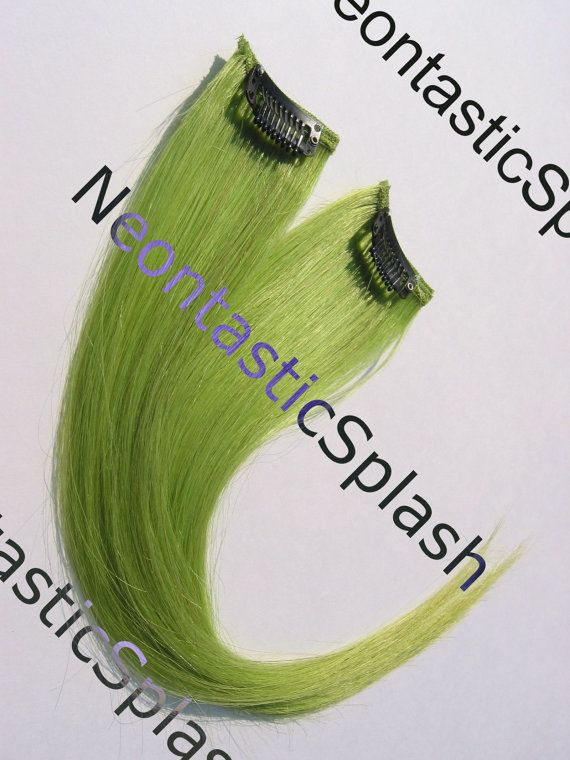 Best 25 extensions clip on ideas on pinterest clip in hair 10 vivid green human hair extensions clip on by neontasticsplash pmusecretfo Gallery