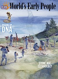 For kids studying pre-historic times, Kids Discover World's Early People follows humanlike species and Homo sapiens from the Stone Age through the Agricultural Revolution, and chronicles major changes in the development of tools, modes of survival, and culture.