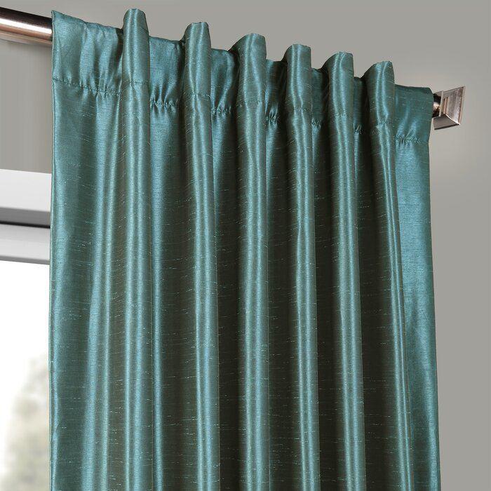 Faux Silk Curtains D