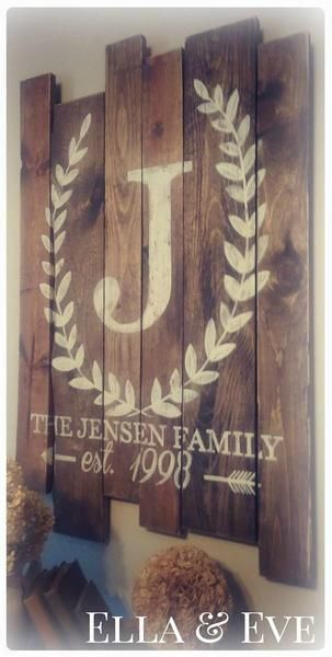 "Measures approx. 25""w x 40""h Finished in dark stain, cream lettering & lightly distressed Handmade in Eau Claire, WI +Turnaround time :: Approx { 17 - 21 bu"