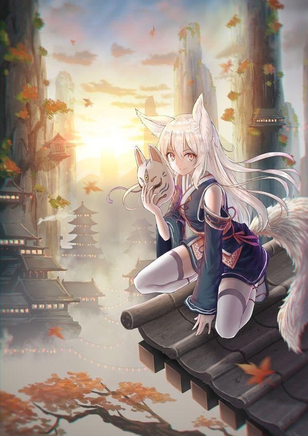 kitsune | anime | girl |