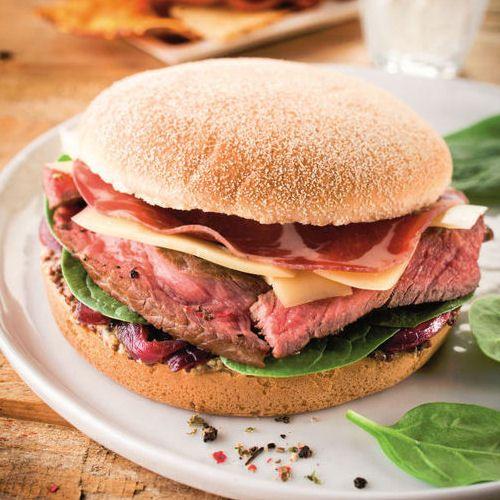 Burger géant brioché du terroir : 60 recettes de hamburger maison - Journal des Femmes