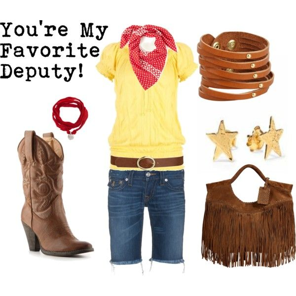 """Sheriff Woody"" by favourite-fictional-fashions on Polyvore"
