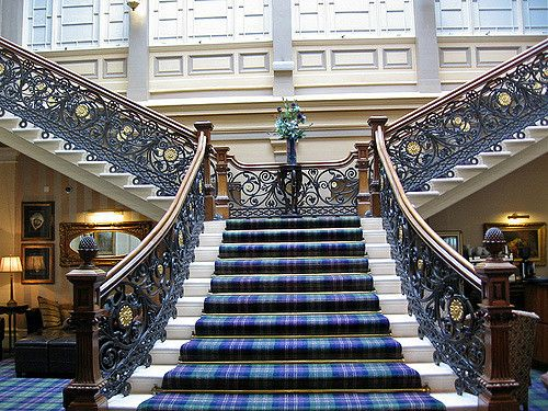 Staircase At Royal Highland Hotel Inverness Scotland