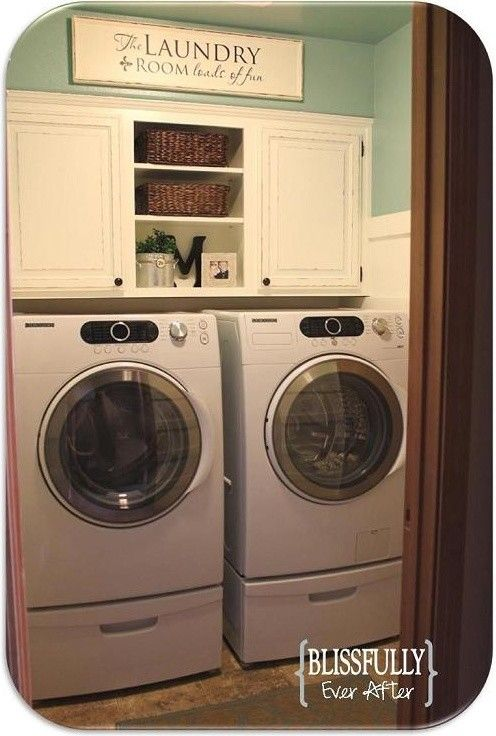 17 best images about laundry shelves on pinterest for Open laundry room ideas