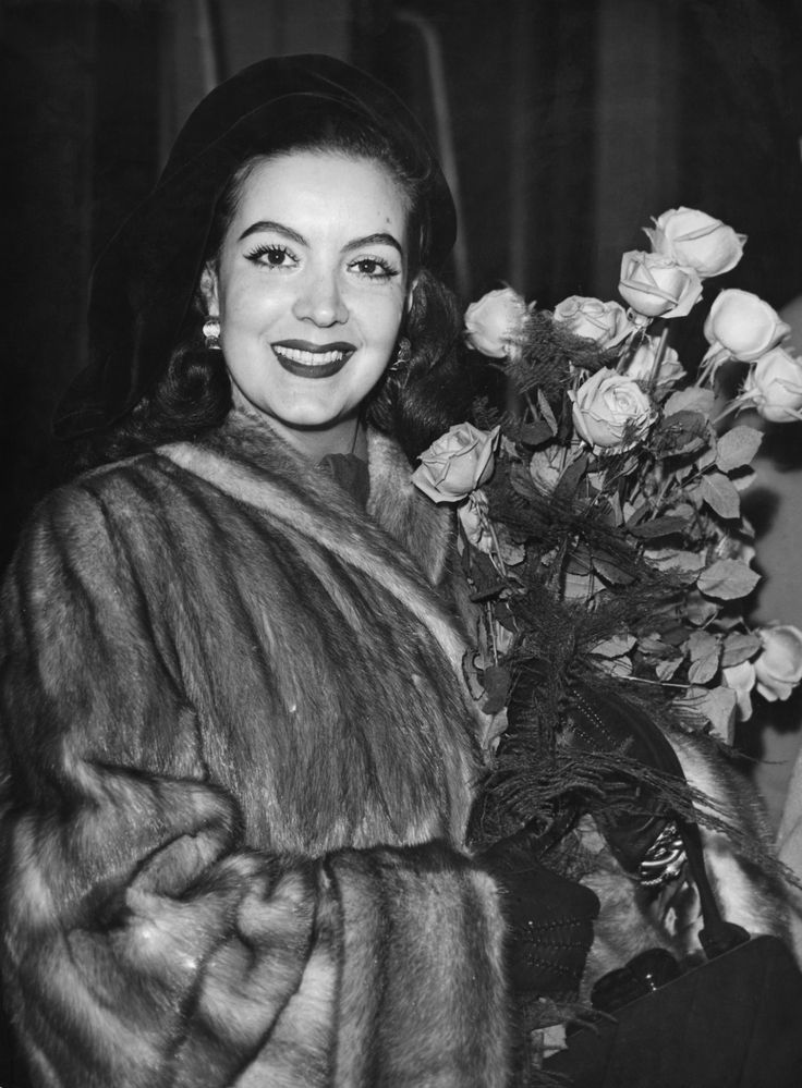 Mexican actress Maria Felix (1914 - 2002) on her arrival in Paris, 10th November…