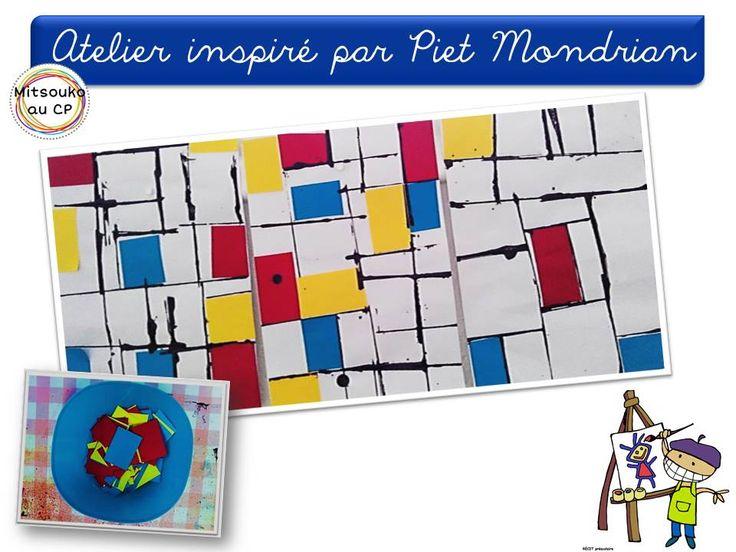 Atelier très simple inspiré par Piet Mondrian !