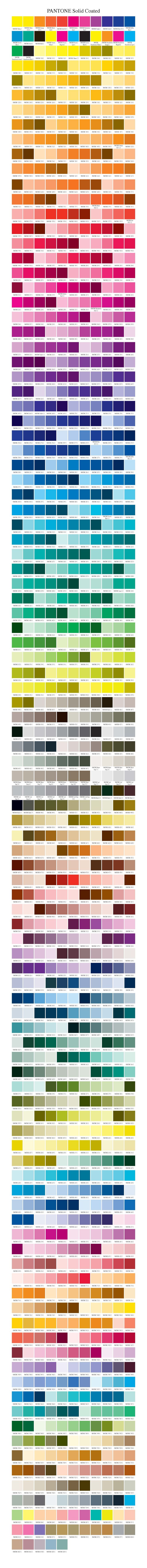 Pantone Solid Coated Swatches