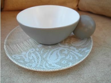 Monterrey by Dorothy Thorpe - ball handle cup & saucer