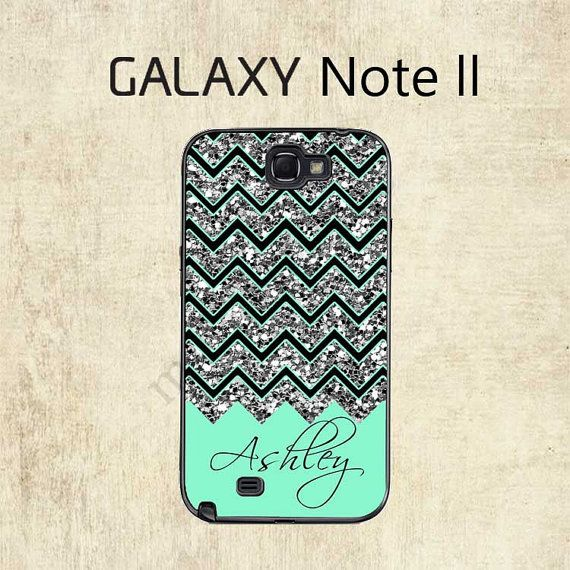 Galaxy Note 2 Case   Mint Chevron Galaxy Case  by mylittlecase, $15.95