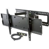 "VideoSecu TV Wall Mount for most 32""- 65"" LCD LED Plasma TV Flat Screen with VESA up to 600x400 mm, Full Motion Dual Arm Articulating Mount bracket with Free HDMI Cable Fits up to 24"" Studs B71 (Electronics)By VideoSecu"