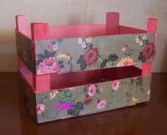 cajas de fruta de madera decoradas - Cerca amb Google