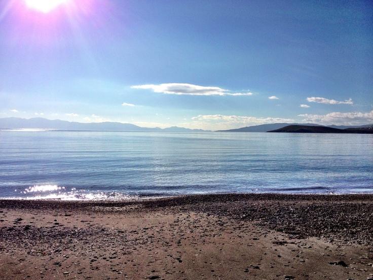 Yahsi beach in the morning.