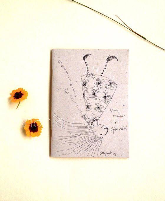 Handmade illustrated journal-Art book journal-OOAK di gufobardo