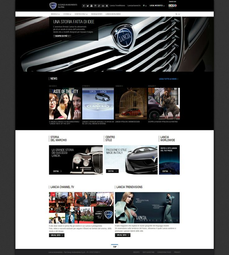 Lancia - Car Website Designs For Your Inspiration