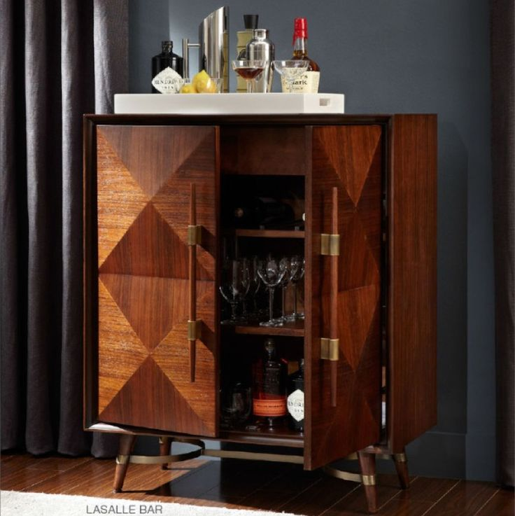 Mitchell Gold and Bob Williams Lasalle Bar, would be great for stereo equipment too in dining room.