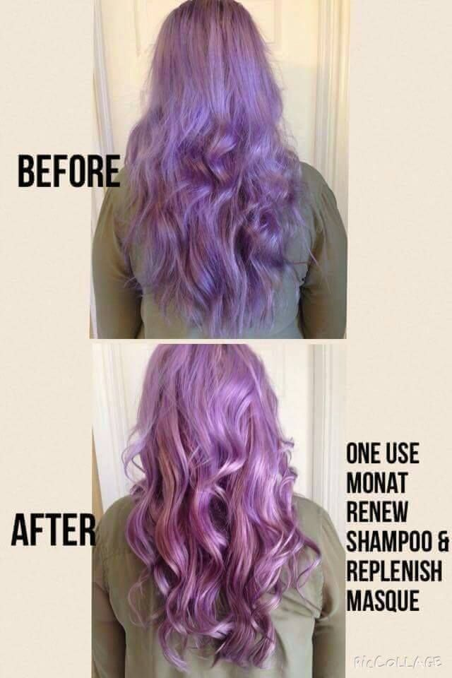 Monat products are safe for color and yes monat is fabulous with those bright hair colors. Using the Rejuveniqe Oil in the color before applying will not only make the color more vibrant and shiny the color will last longer as it penetrates the Cortex of the hair follicle so it holds the colour in. SO you don't have to go to the hairdresser as often saving you money in the end. smile emoticon Yet another good reason to jump on board the MONAT train