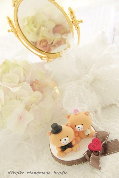 LOVE ANGELS Wedding Cake Topper Love Bear 12000 Via Etsy