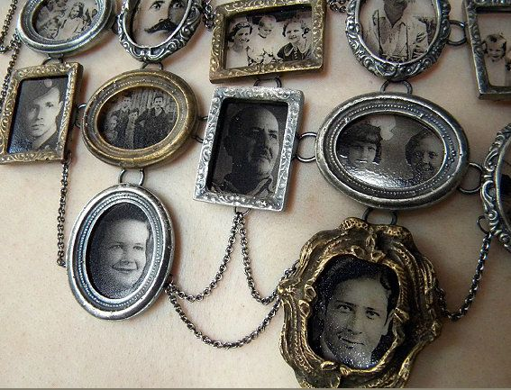 """This is an ingenious idea!  truebluemeandyou: """"I Am Who They Were"""" Necklace by Artist Ashley Gilreath 2011."""