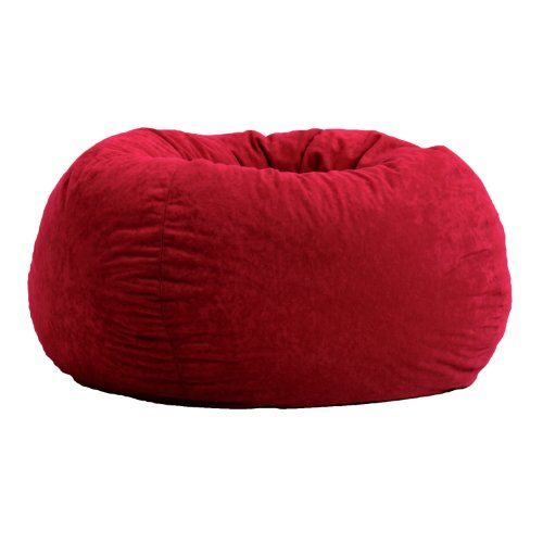 Comfort Research Classic Bean Bag In Comfort Suede, Sierra Red