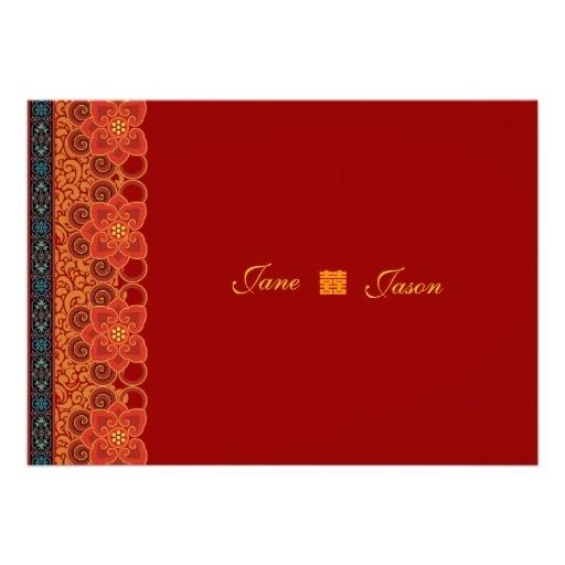 oriental chinese wedding invitation RSVP cards - http://www.zazzle.com/oriental_chinese_wedding_invitation_rsvp_cards-161080660731320424