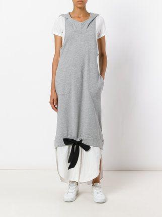 Twin-Set многослойное платье с капюшоном