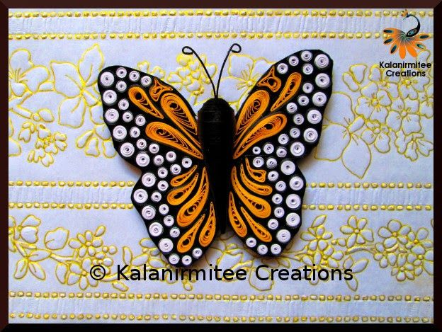 Quilled Butterfly - Visit http://www.kalanirmitee.com