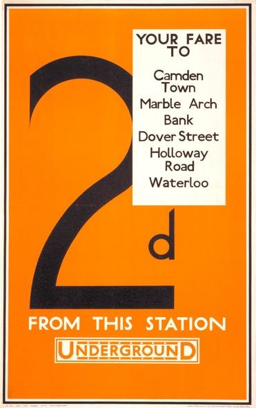 1928, Aldo Cosomati London Underground poster