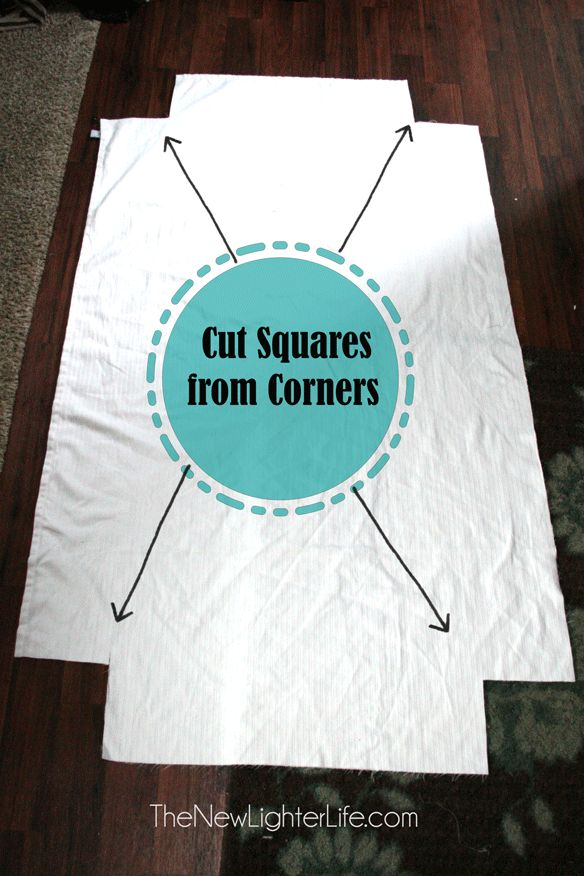 "How to Make Fitted Sheets From a Flat ( Can use 4 pieces of elastic 10-16"" long)"