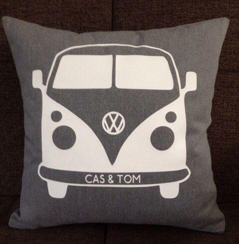 Personalised VW inspired Campervan Cushion by ScatterDesigns, $40.00