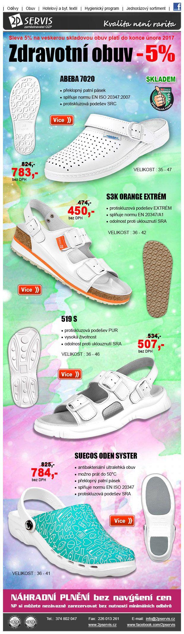 ★ ★ Nenechte nás ladem, ležíme tu skladem – Sleva 5% na certifikovanou obuv ★ ★