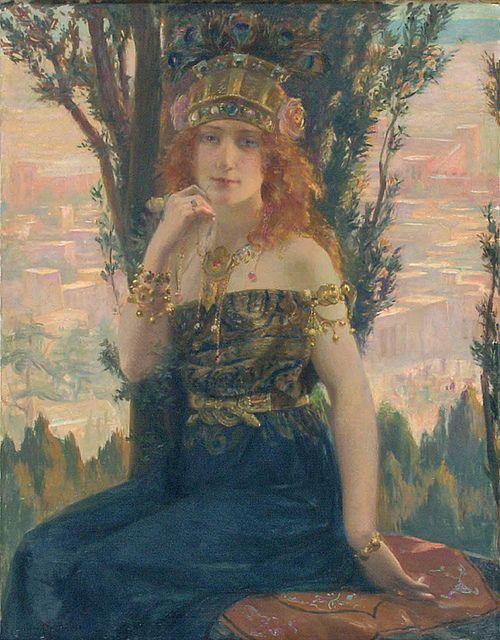 """Gaston Bussiere (French, 1862-1929) """"Helene De Troie"""""""