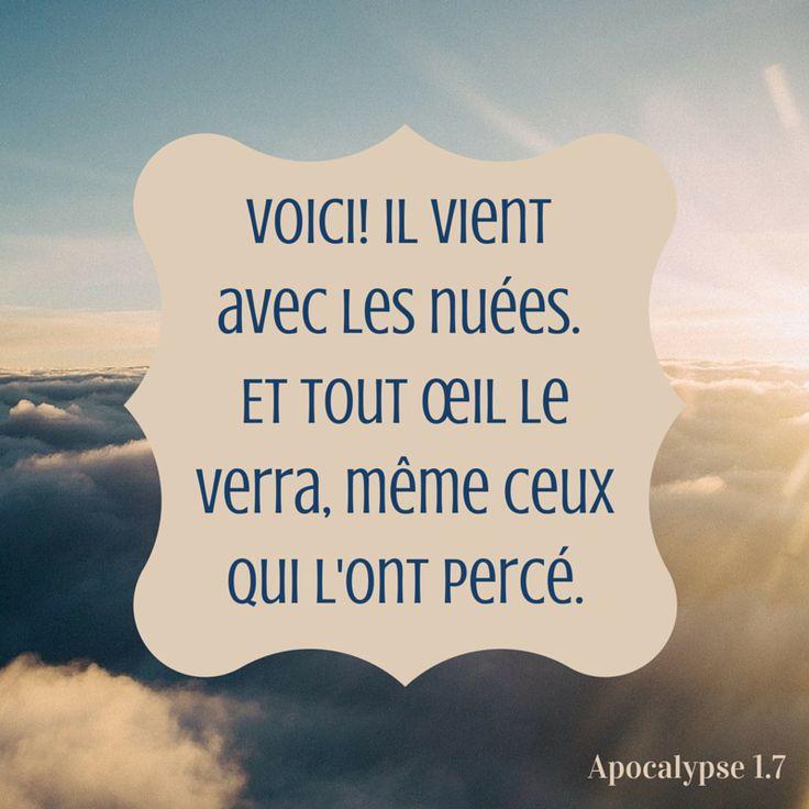 Le retour de Jésus. Apocalypse 1:7