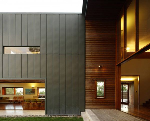 lovely juxtaposition of facade materials! The Rosalie Residence designed by Richard Kirk Architects in Brisbane, Australia. via freshome