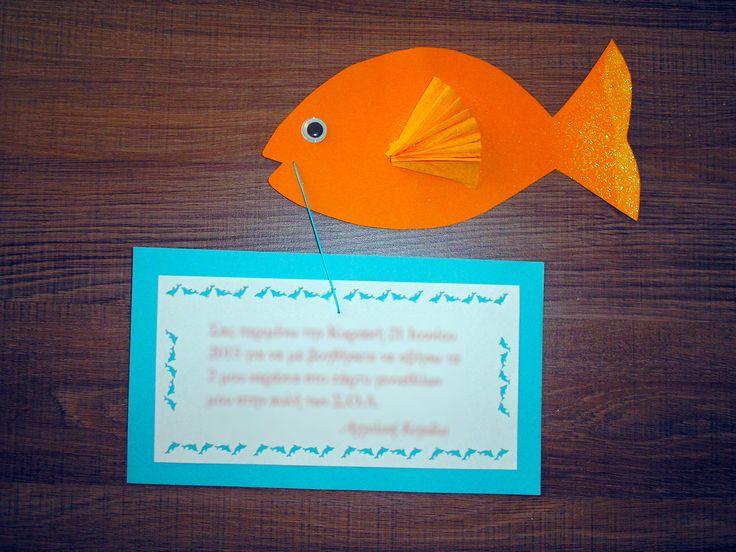 Party invitation handmade by Asimopetra