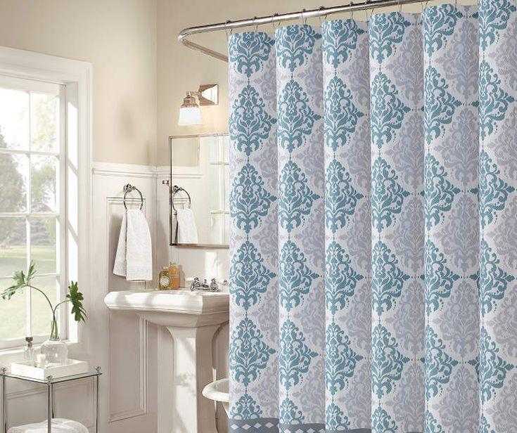 """Blue & Gray Medallion Gavi Shower Curtain, (72"""") at Big Lots."""