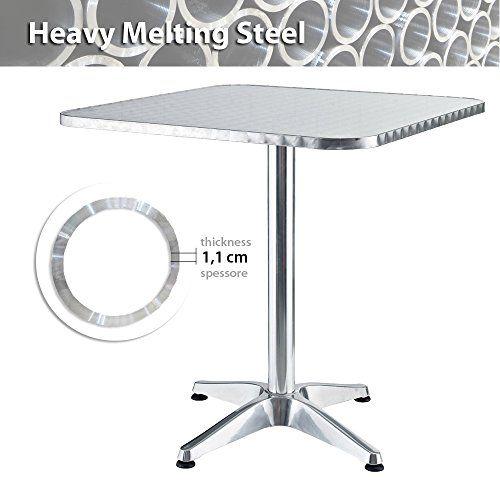 "Tavolo Quadrato ""Heavy Melting Steel"" Tubo Pesante Ø 1,1 cm (Garanzia nella stabilità: 8,9 Kg) Tavoli da Bar Professionali BIACCHI http://www.amazon.it/dp/B00T35692Q/ref=cm_sw_r_pi_dp_SaCavb0RPFWKY"
