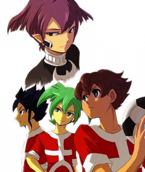Arion, Fei Rune y Vladimir Blade Inazuma Eleven Go Chrono Stone