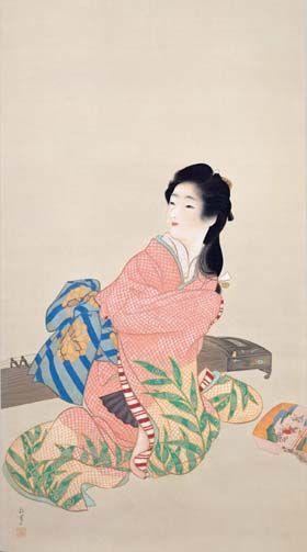 UEMURA Shoen (1875-1949), Japan 上村松園「娘深雪」