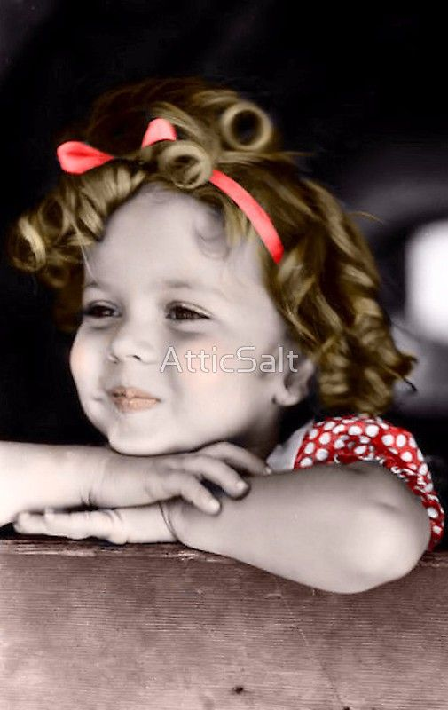 Shirley Temple in Red