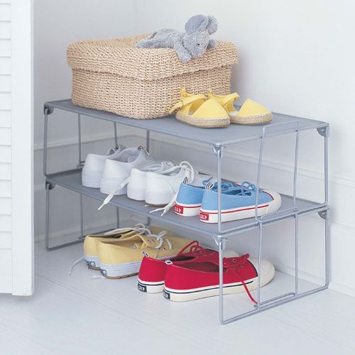Stackable shoe rack garage shoes for the home pinterest