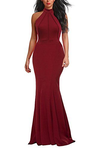 30dbc138387 Berydress Women s Vintage Formal Dress Floor Length Long Maxi Mermaid Wedding  Party Bridesmaid Dress (S